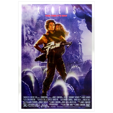 Sigourney Weaver Autographed 1986 Aliens 27x40 Single-Sided Movie Poster