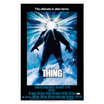 John Carpenter Autographed 1982 The Thing 16x24 Movie Poster