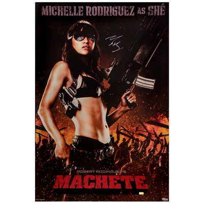 Michelle Rodriguez Autographed 2010 Machete She 24x36 Single-Sided Movie Poster