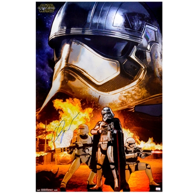 Gwendoline Christie Autographed 2015 Star Wars: The Force Awakens Captain Phasma Assault 22.5×34 Single-Sided Poster