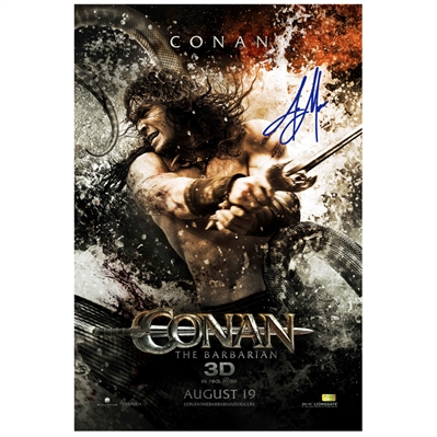 Jason Momoa Autographed 2011 Conan the Barbarian Original 27x40 Double-Sided Movie Poster