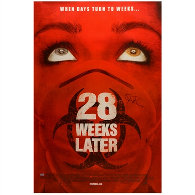 Jeremy Renner Autographed 2007 28 Weeks Later Original 27x40 Single-Sided Movie Poster