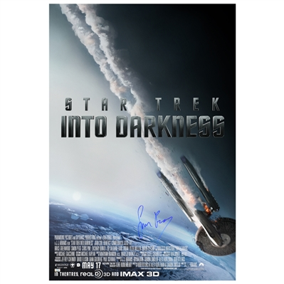 Simon Pegg Autographed 2013 Star Trek: Into Darkness 24x36 Single-Sided Movie Poster