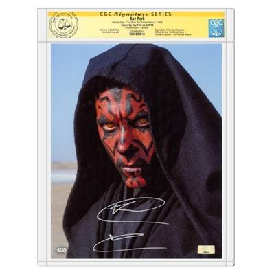 Ray Park Autographed Star Wars: The Phantom Menace Darth Maul 8x10 Photo * CGC Signature Series