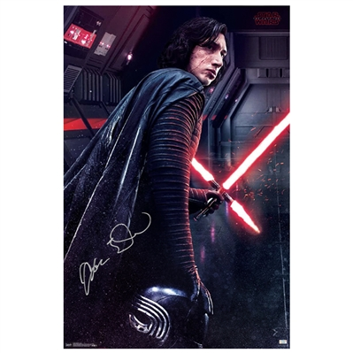 Adam Driver Autographed 2017 Star Wars: The Last Jedi Kylo Ren 22x34 Single-Sided Poster
