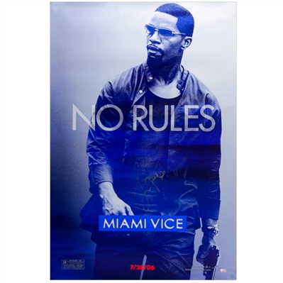 Jamie Foxx Autographed 2006 Miami Vice No Rules 27x40 Single-Sided Movie Poster