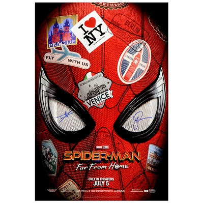 Tom Holland, Jake Gyllenhaal Autographed 2017 Spider-Man: Far From Home Original 27x40 Advance Single-Sided Movie Poster
