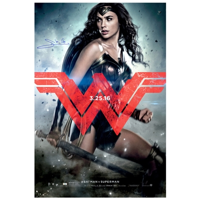 Gal Gadot Autographed 2016 Batman vs Superman Wonder Woman Original 27x40 Double-Sided Movie Poster