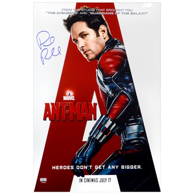 Paul Rudd Autographed 2015 Ant-Man International 16×24 Movie Poster