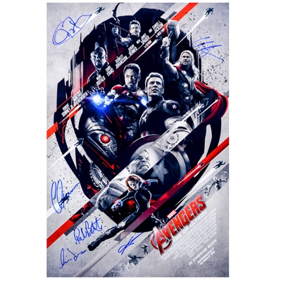 Chris Evans, Chris Hemsworth, Jeremy Renner and Avengers Cast 2015 Avengers: Age of Ultron 16x24 Poster