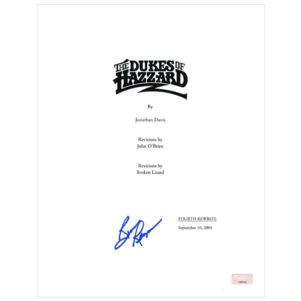 Burt Reynolds Autographed The Dukes of Hazzard Script Cover