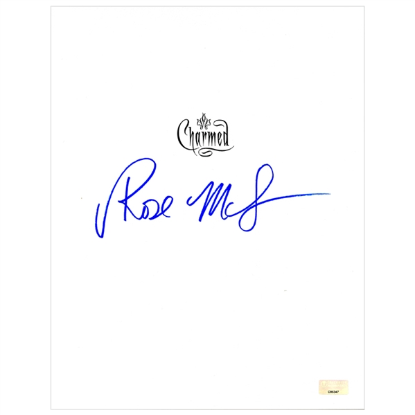 Rose McGowan Autographed Charmed Script Cover