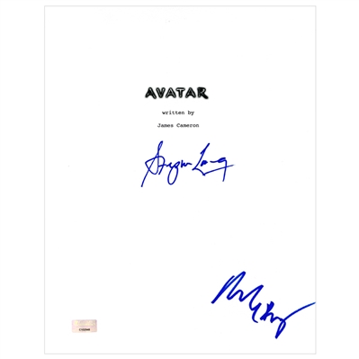 Stephen Lang and Michelle Rodriguez Autographed 2009 Avatar Script Cover