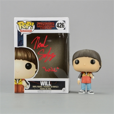 Noah Schnapp Autographed Stranger Things Will POP Vinyl Figure #426 with Will Inscription