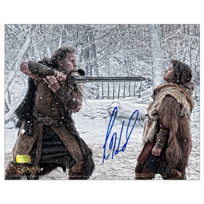 Leo Howard Autographed Conan the Barbarian Father and Son 8x10 Photo