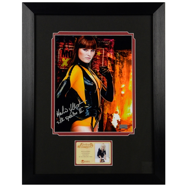Malin Akerman Autographed Watchmen Silk Spectre II 8x10 Framed Photo