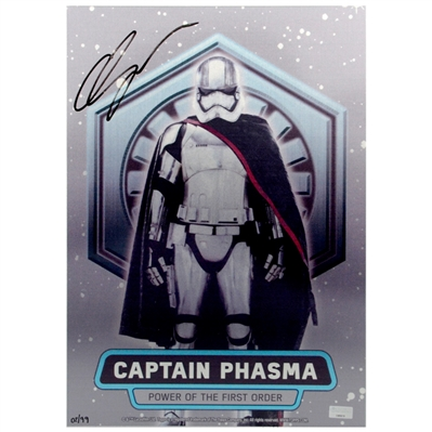Gwendoline Christie Autographed Topps Chrome Star Wars Captain Phasma 10x14 Metal Sign *Last One!