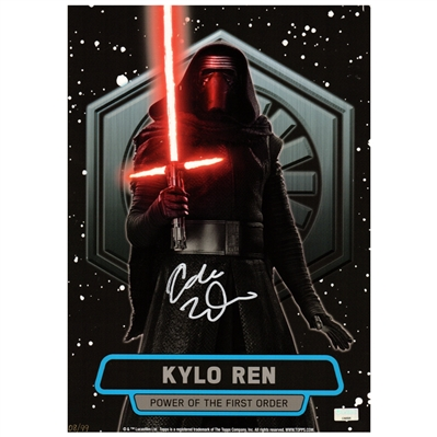 Adam Driver autographed Kylo Ren Power of the First Order 10x14 Trading Card * LAST ONE!