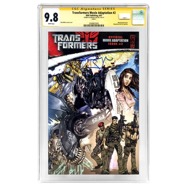 Megan Fox Autographed Transformers Movie Adaptation #2 CGC SS 9.8 Mint