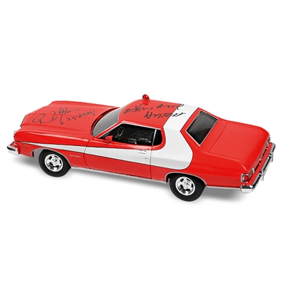 David Soul and Paul Michael Glaser Autographed Starsky & Hutch Torino 1:18 Scale Die-Cast Car