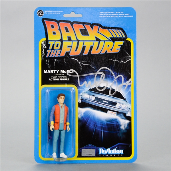 Michael J. Fox Autographed Back to the Future Marty McFly 3 3/4 Inch Fully Posable Action Figure