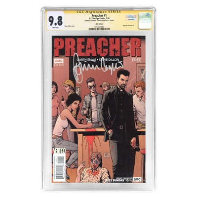 Dominic Cooper Autographed 2016 Preacher #1 CGC SS 9.8 Comic