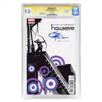 Jeremy Renner Autographed 2012 Marvel CGC Signature Series 9.8 Hawkeye #1 Mint