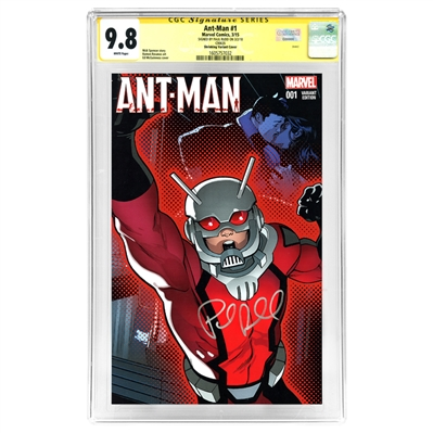Paul Rudd Autographed Ant-Man #1 Shrinking Variant Cover CGC Signature Series 9.8