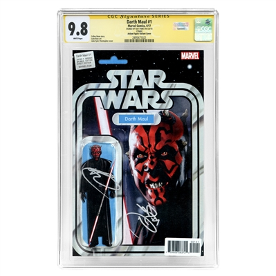 Ray Park Autographed 2017 Darth Maul #1 Action Figure Variant Cover CGC SS 9.8 Mint with Darth Maul Inscription