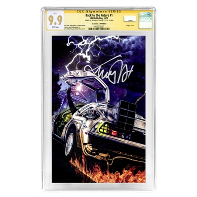 Michael J. Fox Autographed 2015 Back to the Future #1 CGC Signature Series 9.9 Mint with Corbyn Kern Variant Cover