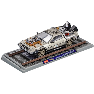 Michael J. Fox Autographed Back to the Future III 1:18 Scale Die-Cast DeLorean