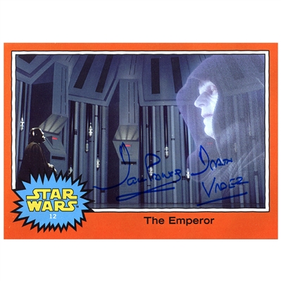 David Prowse Autographed Star Wars The Emperor 5x7 Trading Card