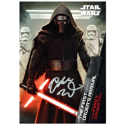 Adam Driver Autographed Star Wars Kylo Ren The First Orders Arrival 5x7 Trading Card
