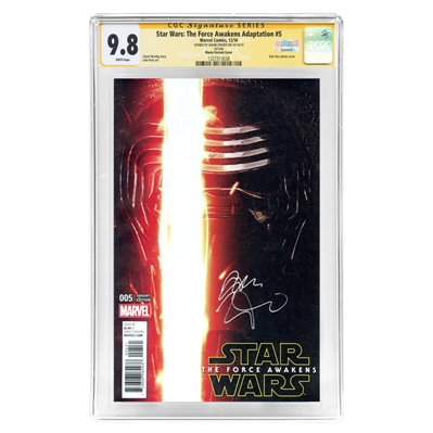 Adam Driver Autographed 2016 Star Wars: The Force Awakens #005 CGC SS 9.8 Photo Variant Cover
