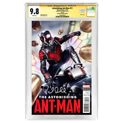 Paul Rudd Autographed 2016 Ant-Man #11 Celebrity Authentics Exclusive Variant Photo Cover CGC Signature Series 9.8 Mint