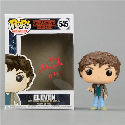 Millie Bobby Brown Autographed Stranger Things Eleven POP Vinyl Figure #545 with 011 Inscription