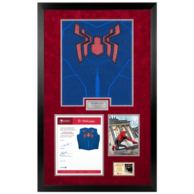 Spider-Man Far From Home Production Made Glyph with Tom Holland LOA Framed Display