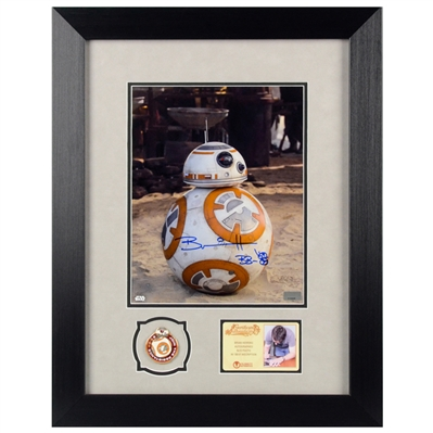 Brian Herring Autographed Star Wars BB-8 8x10 Photo Framed with Pin