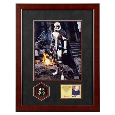 Gwendoline Christie Autographed Star Wars Captain Phasma 8x10 Photo Framed with Pin