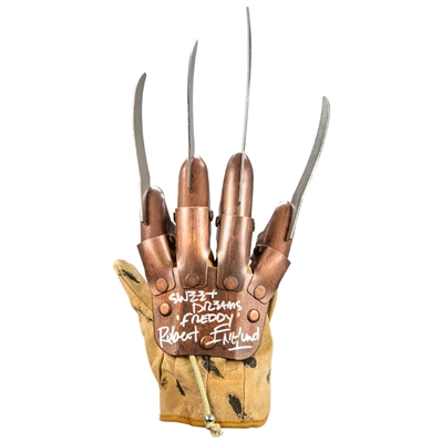 Robert Englund Autographed Freddy Krueger Authentic Glove with Sweet Dreams Inscription * LAST ONE!