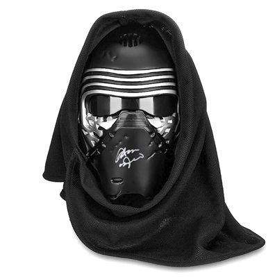 Adam Driver Autographed Star Wars Kylo Ren Voice Changing Mask with Hood