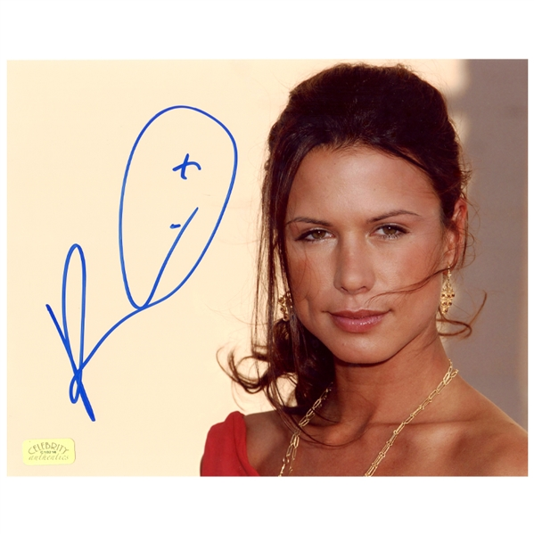 Rhona Mitra Autographed 8x10 Close Up Photo