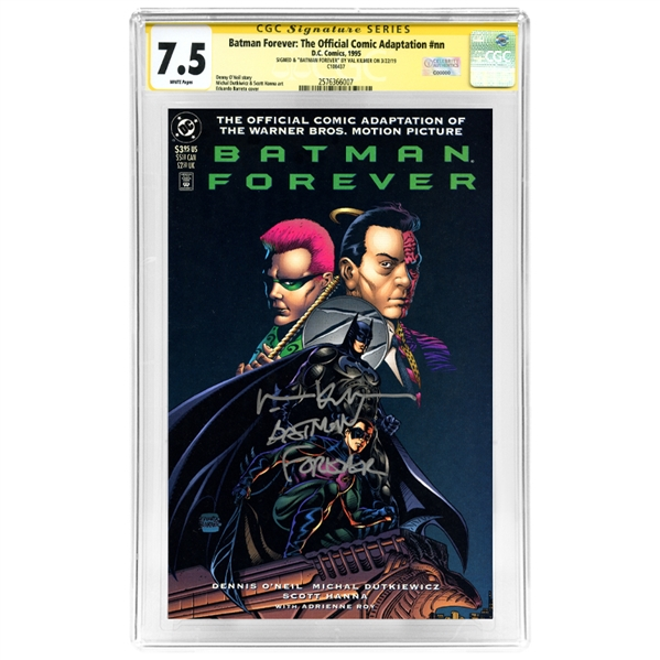 Val Kilmer Autographed Batman Forever: The Official Comic Adaptation CGC SS Signature Series 7.5 Comic