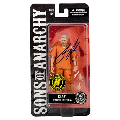 Ron Perlman Rare 2014 Mezco Exclusive Autographed Sons of Anarchy Clay Action Figure