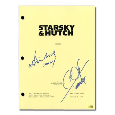 David Soul and Paul Michael Glaser Autographed Starsky and Hutch Pilot Script