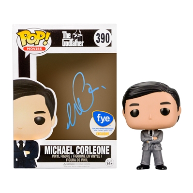 Al Pacino Autographed The Godfather Michael Corleone POP Vinyl #390 FYE Exclusive