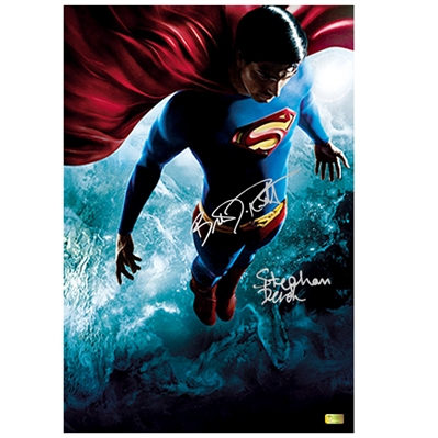 Brandon Routh and Stephan Bender Autographed Superman Returns 16x24 Poster Art