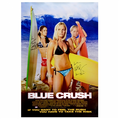 Kate Bosworth, Michelle Rodriguez Autographed 2002 Blue Crush 27x40 Single-Sided Movie Poster