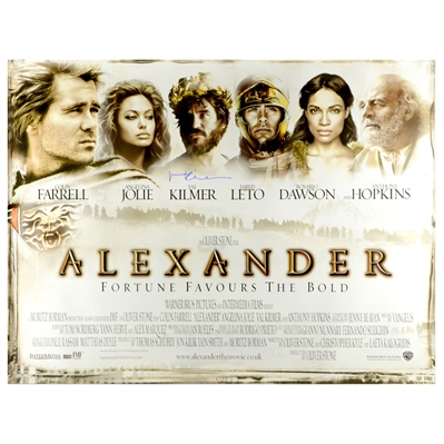 Val Kilmer Autographed 2004 Alexander Original 40x30 Double-Sided Movie Poster