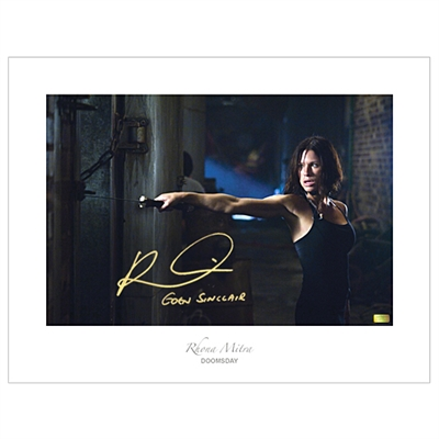 Rhona Mitra Autographed Doomsday 17x22 Fine Art Photo with Eden Sinclair Inscription
